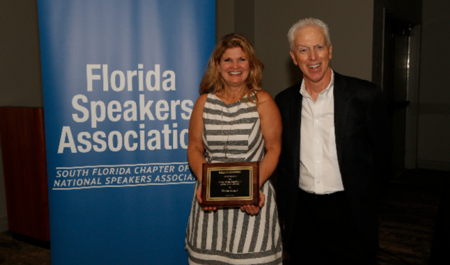 """Diane Grant, Author, Speaker, Parenting Expert Receives the Association Candidate of the Year Award from the Florida Speakers Association"""